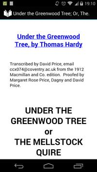 Under the Greenwood Tree poster