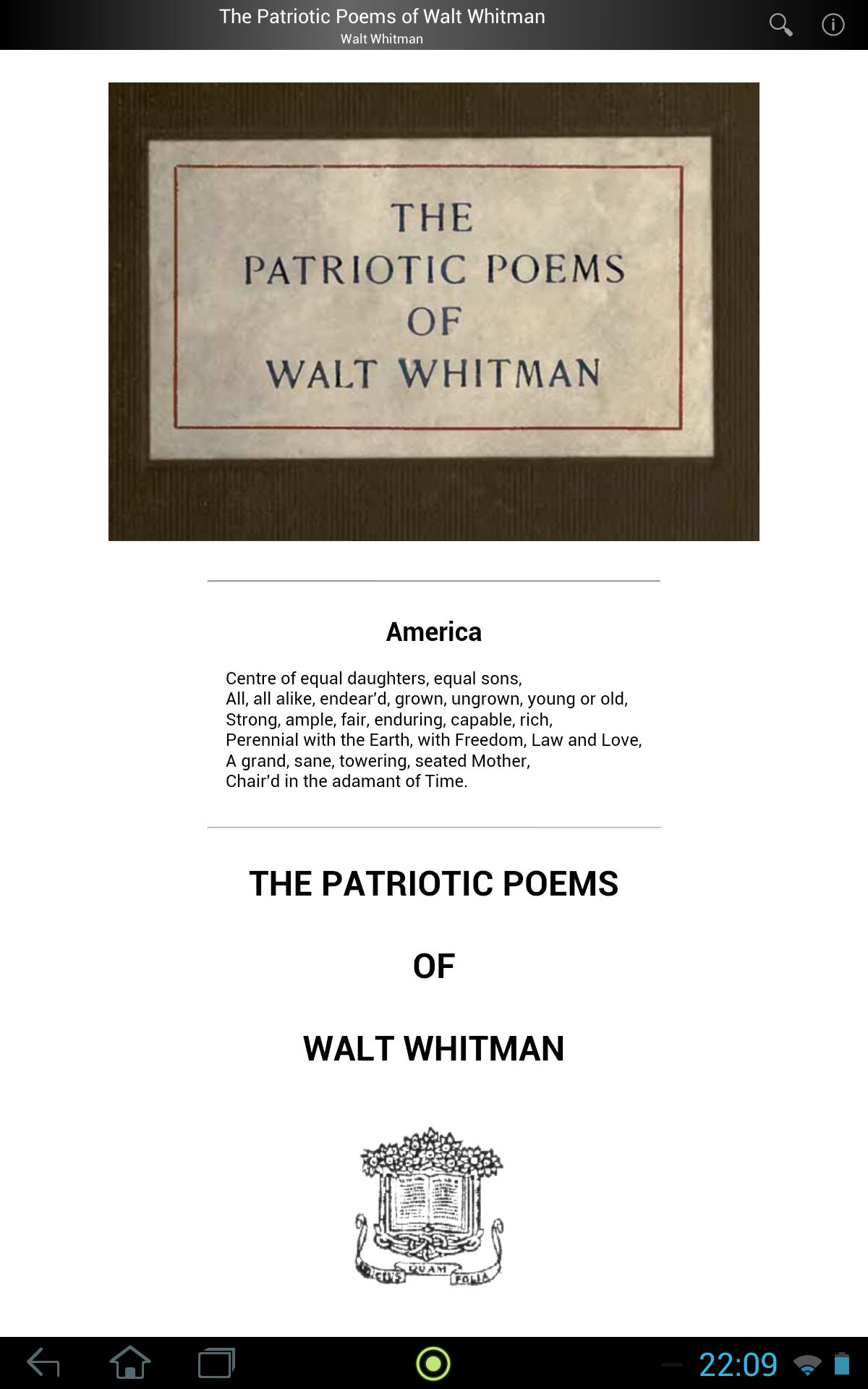Patriotic Poem Of Walt Whitman For Android Apk Download