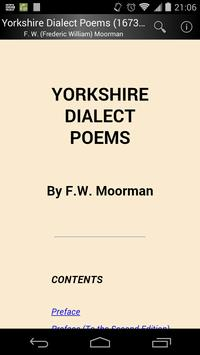 Yorkshire Dialect Poems poster