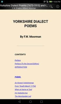 Yorkshire Dialect Poems apk screenshot