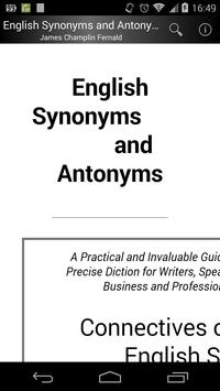 English Synonyms and Antonyms poster