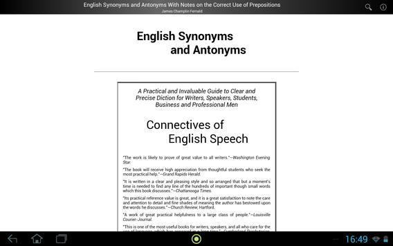 English Synonyms and Antonyms apk screenshot