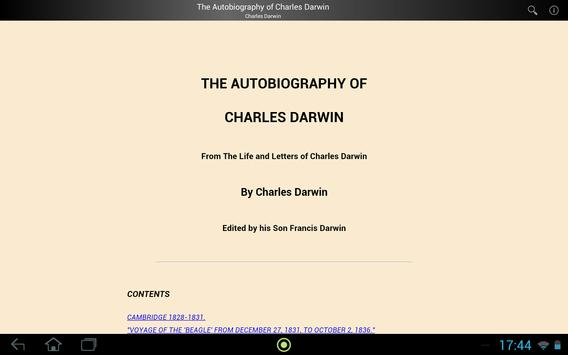 Charles Darwin Autobiography apk screenshot