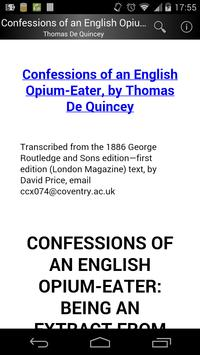 Confessions of an English Opium-Eater poster
