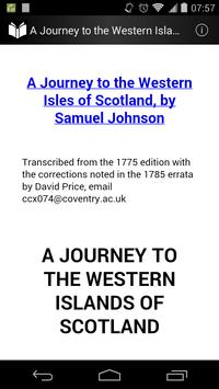 A Journey to the Western Islands of Scotland poster