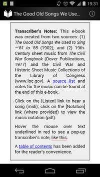 The Good Old Songs in 1860s poster