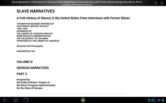 Slave Narratives 4-2 apk screenshot