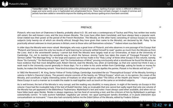 Plutarch's Morals apk screenshot