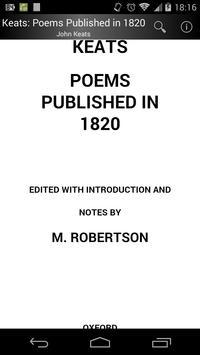 Keats: Poems Published in 1820 screenshot 1
