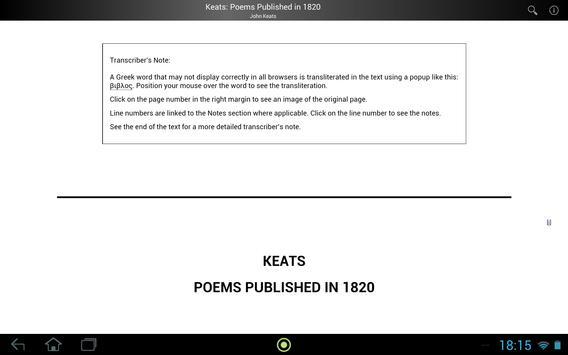 Keats: Poems Published in 1820 screenshot 2