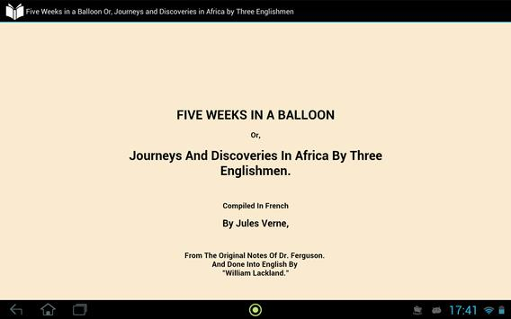 Five Weeks in a Balloon apk screenshot