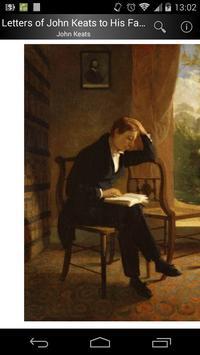 Letters of John Keats poster