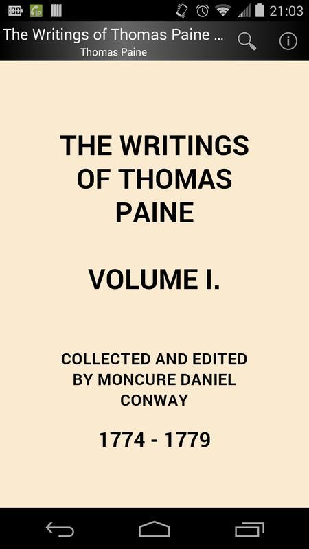 The Writings Of Thomas Paine 1