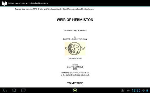 Weir of Hermiston apk screenshot