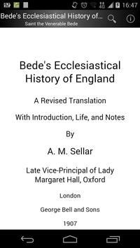 Bede's Ecclesiastical History poster