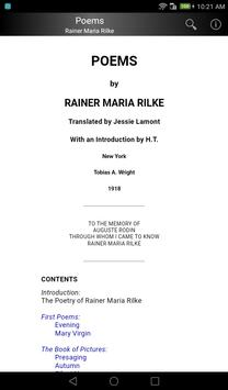Poems by Rainer Maria Rilke apk screenshot
