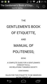 Gentlemen's Book of Etiquette poster