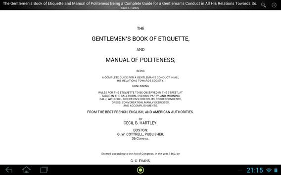 Gentlemen's Book of Etiquette apk screenshot