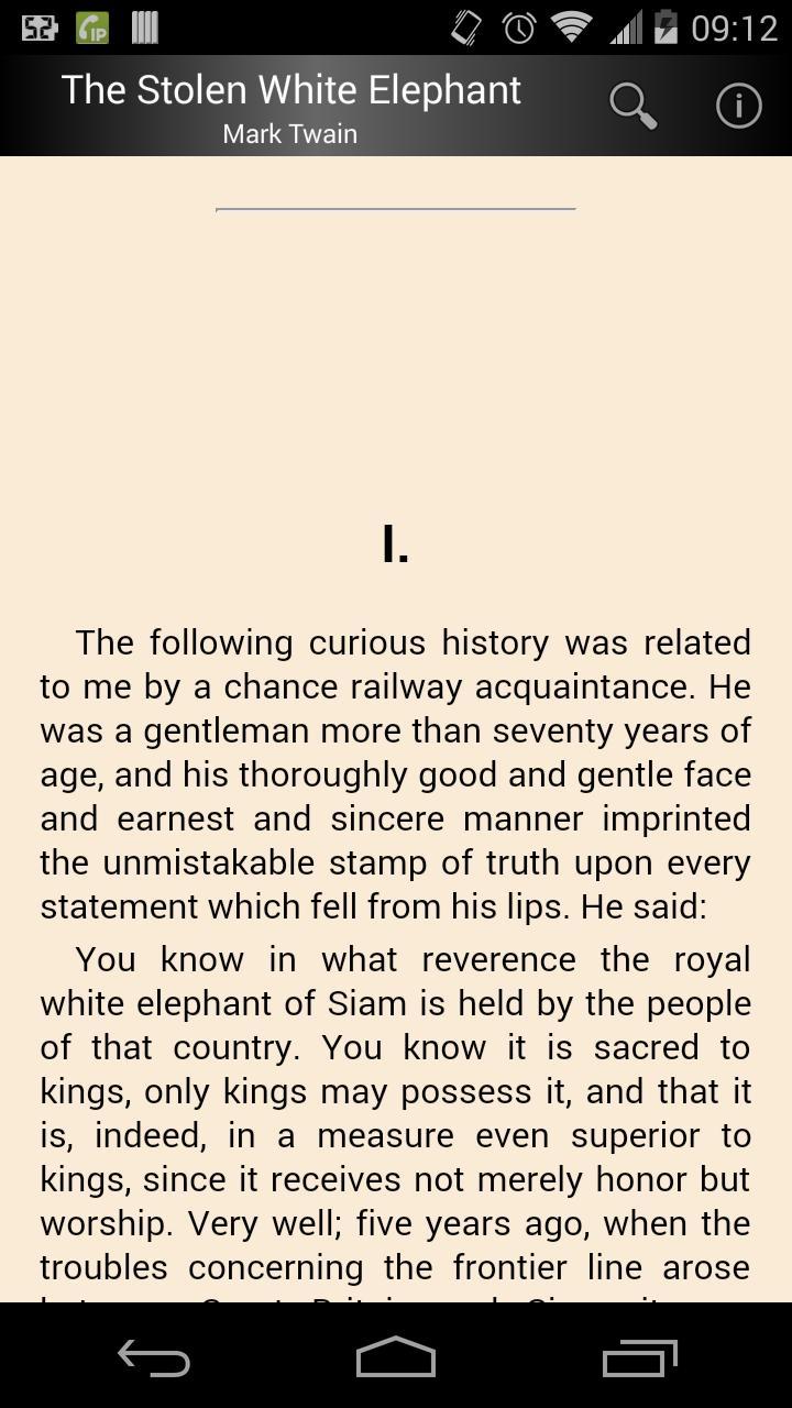The Stolen White Elephant poster