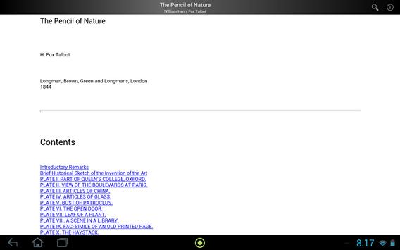The Pencil of Nature apk screenshot