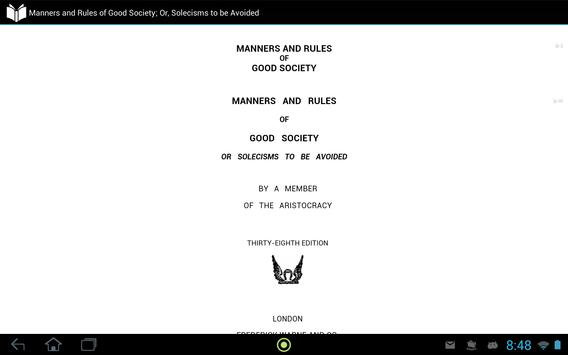 Manners and Rules of Good Society apk screenshot