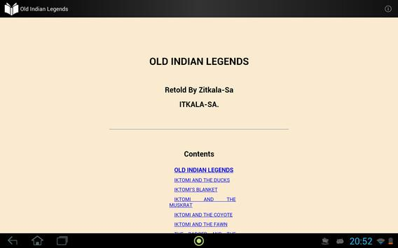 Old Indian Legends apk screenshot