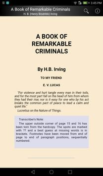A Book of Remarkable Criminals screenshot 4