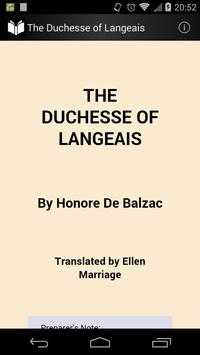 The Duchesse of Langeais poster