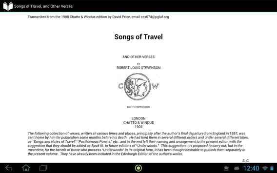 Songs of Travel screenshot 2