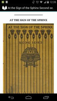 At the Sign of the Sphinx poster