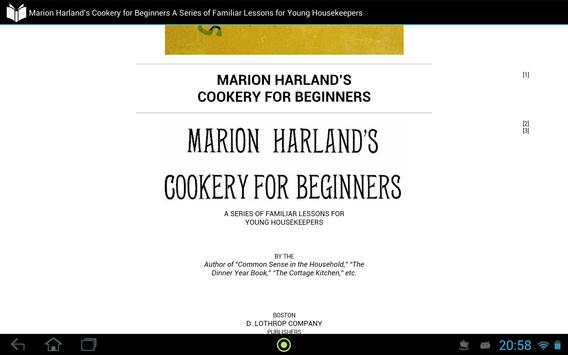 Marion Harland's Cookery for Beginners apk screenshot