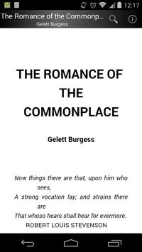 The Romance of the Commonplace poster