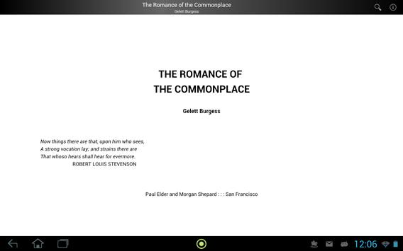 The Romance of the Commonplace screenshot 2