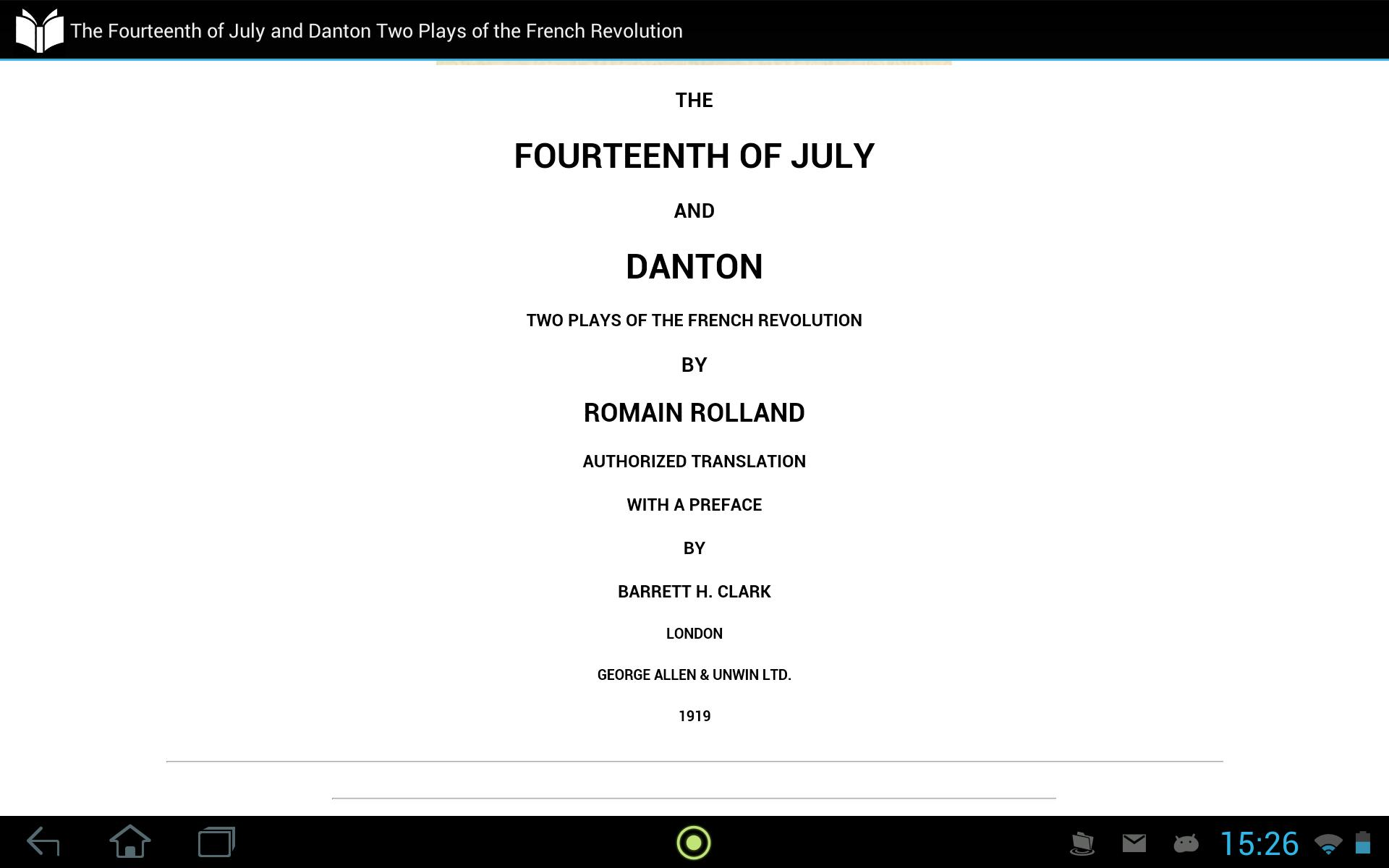 Fourteenth of July and Danton poster