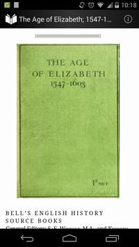 The Age of Elizabeth 1547-1603 poster