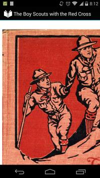 The Boy Scouts with the Red Cross poster