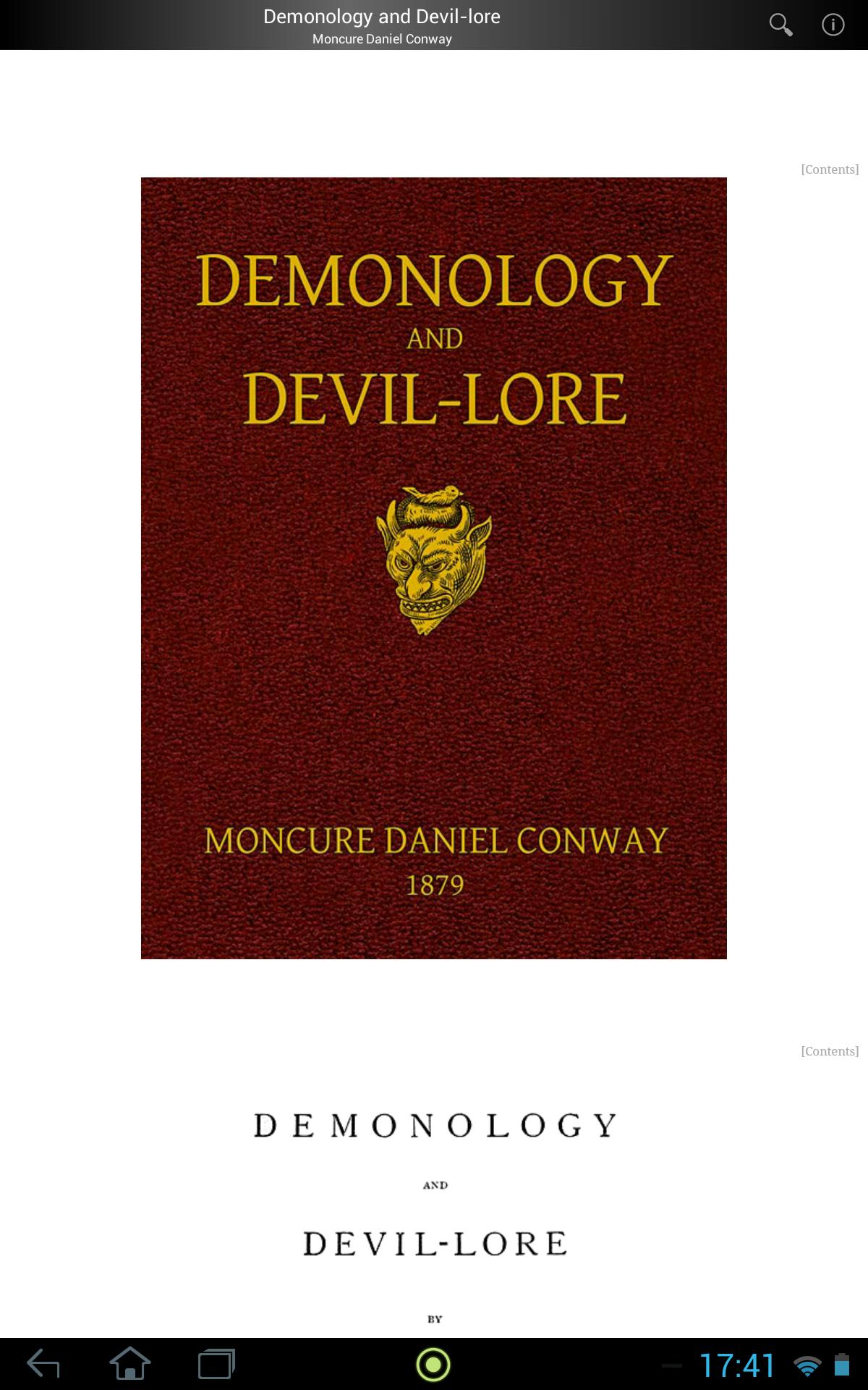 Demonology and Devil-lore poster