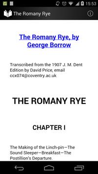 The Romany Rye poster