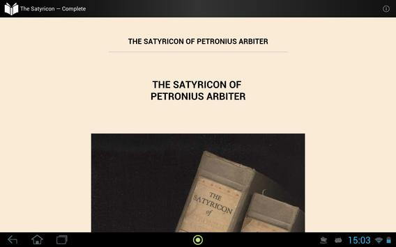 The Satyricon apk screenshot