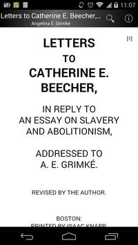 Letters to Catherine Beecher poster