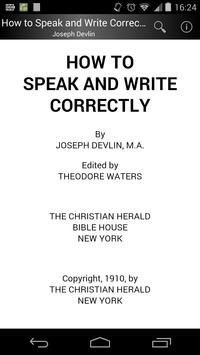 How to Speak and Write Correctly poster
