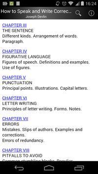 How to Speak and Write Correctly apk screenshot
