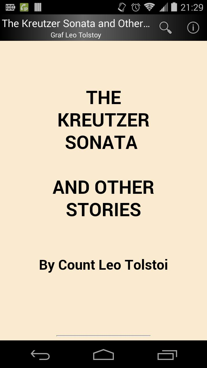 The Kreutzer Sonata by Tolstoy poster