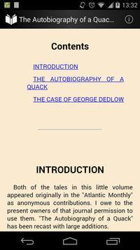 The Autobiography of a Quack apk screenshot