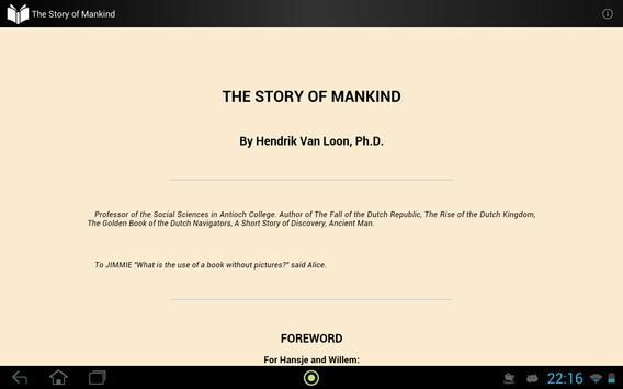The Story of Mankind apk screenshot