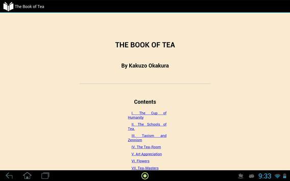 The Book of Tea apk screenshot