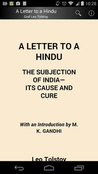 A Letter to a Hindu poster