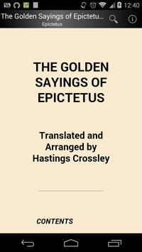 Golden Sayings of Epictetus poster