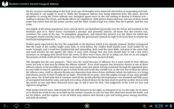 Lincoln 2nd Inaugural Address apk screenshot
