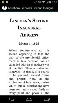 Lincoln 2nd Inaugural Address poster